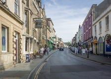 Glastonbury Hoofdstraat Royalty-vrije Stock Foto's