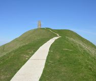 glastonbury tor Obraz Royalty Free