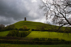 glastonbury tor Royaltyfri Foto