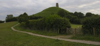 glastonbury tor Royaltyfri Bild
