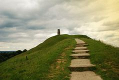 Glastonbury - Tor, England, United Kingdom Stock Photo