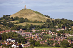 Glastonbury Tor. The historic Glastonbury Tor in Somerset, England Royalty Free Stock Image