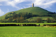 Glastonbury Tor, A sacred site along the English countryside in Glastonbury, England Stock Photos