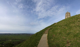 Glastonbury tor somerset countryside uk Stock Image