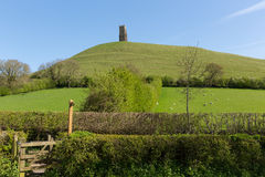 Glastonbury Tor Somerset England Stock Photo