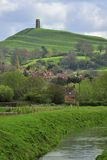 Glastonbury Tor, Somerset levels Stock Photos