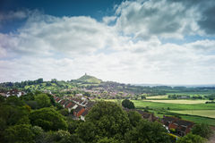 Glastonbury Tor viewed from Wearyall Hill Royalty Free Stock Photography