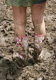 Glastonbury wellies Stock Photography