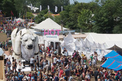 Glastonburyfestival van de Arts. Stock Foto