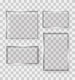 Glastransparenz-Rahmen-Vektor-Illustration Stockfotografie