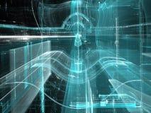 Glastunnel - abstract digitaal geproduceerd beeld Stock Afbeelding