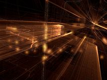 Glastunnel - erzeugtes Bild der Zusammenfassung digital Stockfotos