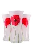 Glasvase mit einer Blume Getrennt Stockfotos