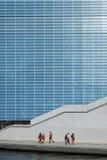 Glasvoorgevel van Marie Elisabeth Lueders House in Berlijn Royalty-vrije Stock Foto's