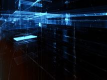 Glaswände - erzeugtes Bild der Zusammenfassung digital Lizenzfreie Stockfotografie