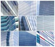 Glaswand der Bürogebäudecollage Lizenzfreies Stockbild