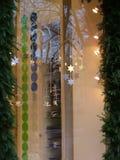 Glasweihnachtsbildschirmanzeige Stockbild