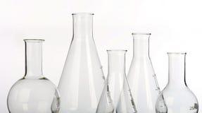 Glaswerk in laboratorium royalty-vrije stock foto's