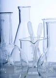 Glaswerk in laboratorium royalty-vrije stock afbeelding