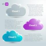 Glaswolken met plaats voor tekst worden geplaatst die Royalty-vrije Stock Foto