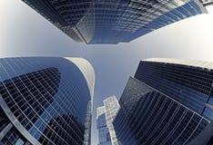 Glaswolkenkratzer in der Moskau-Stadt Lizenzfreie Stockfotografie