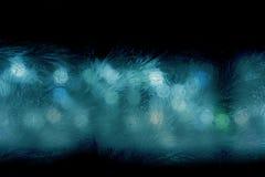 glasyr på kakanattfönster Arkivbild