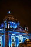 Glat Belfast stadshus Fotografering för Bildbyråer