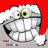 Glat julkortleende stock illustrationer