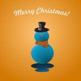 Glat kort för julsnömanhälsning Fotografering för Bildbyråer