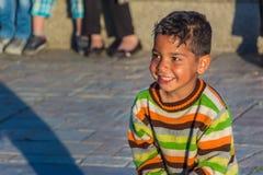 Glat zigenskt spela för barn som är snorigt Royaltyfri Foto