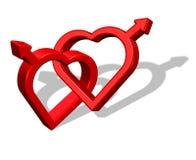 Glatt förälskelsesymbol Arkivbild