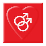 glatt förälskelsesymbol Fotografering för Bildbyråer