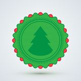 Glatt julemblem Royaltyfri Bild