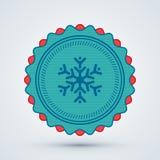 Glatt julemblem Arkivfoton