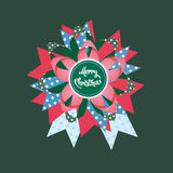 Glatt julgåvakort Arkivfoton