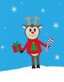 Glatt julhälsningskort Arkivbilder
