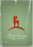 Glatt julhälsningskort Arkivbild