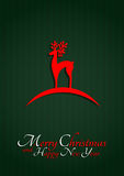 Glatt julhälsningskort Royaltyfria Foton