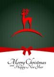 Glatt julhälsningskort Royaltyfri Foto