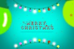 Glatt julinbjudankort För festivalberömmar för glad jul design för kort för hälsning Royaltyfria Foton