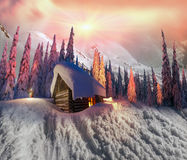 Glatt julkort Fotografering för Bildbyråer