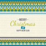 glatt nytt år för jul Arkivbild