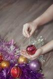 glatt nytt år för jul Royaltyfria Bilder