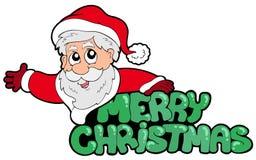 glatt santa för jul tecken royaltyfri illustrationer