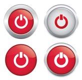 Glatte AN/AUS-Ikone Lizenzfreies Stockfoto