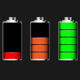 Glatte Batterie des Vektors Lizenzfreies Stockfoto