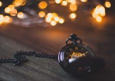 Glatte Bokeh-Taschen-Uhr stockfotos