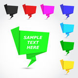 Glatte bunte origami Luftblasen Stockbilder