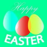 Glatte Eier für fröhliche Ostern, Feierkartendesign Stockfotos
