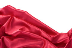 Glatte elegante rote Seide Lizenzfreies Stockbild